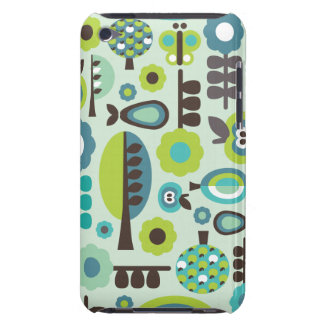 Cute retro pattern flowers ipod case iPod touch cover