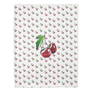 Cute Retro Style Cherry Duvet Cover