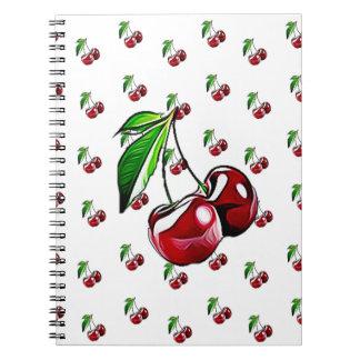 Cute Retro Style Cherry Notebook