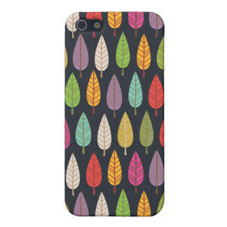 Cute retro tree and leafs pattern iphone case case for the iPhone 5