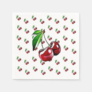 Cute Retro Vintage Cherries Napkin