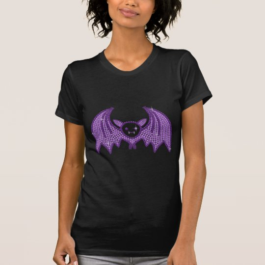 Cute Rhinestone Bat T-Shirt