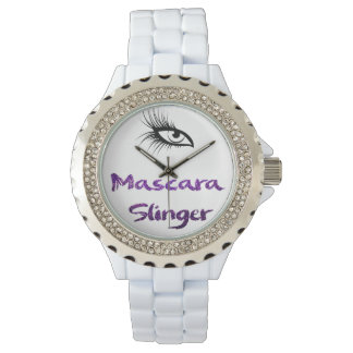Cute Rhinestone Watch Mascara Slinger