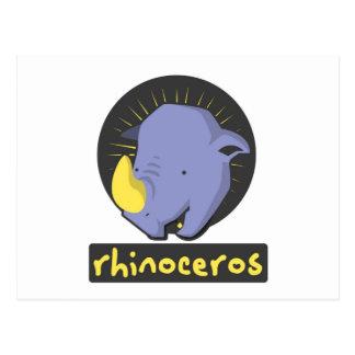cute rhino postcard