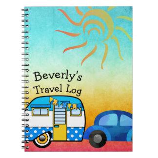 Cute Road Trip Travel Log Notebook