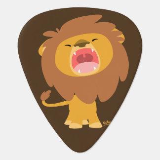 Cute Roaring Cartoon Lion Guitar Pick