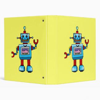 cute robot, back to school 3 ring binder