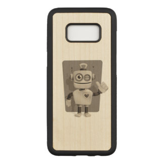 Cute Robot Carved Samsung Galaxy S8 Case