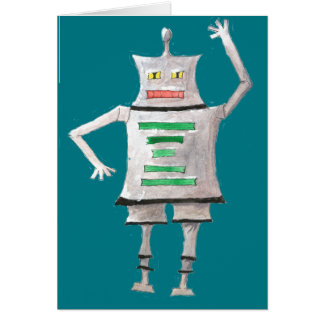 Cute Robot Chibi Card with envelope