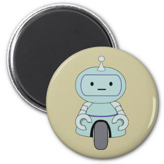 Cute Robot Illustration Magnet
