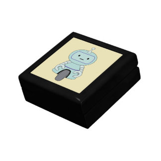Cute Robot Illustration Trinket Boxes