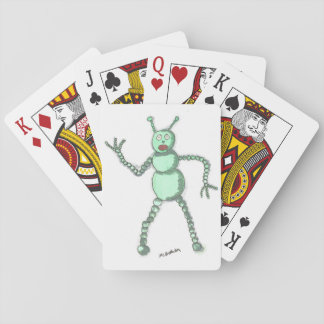 Cute Robot Playing Cards, Standard Index faces Poker Deck