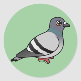 Cute Rock Pigeon Classic Round Sticker
