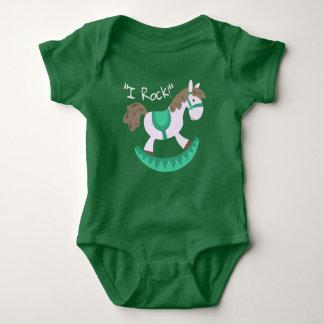 "Cute Rocking Horse ""I Rock"" Slogan Baby Bodysuit"