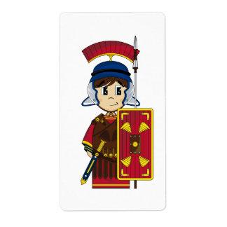 Cute Roman Soldier Sticker Label