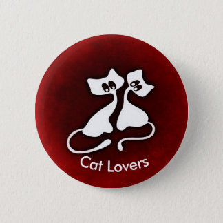 Cute Romantic Cat Couples Button