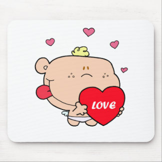 Cute Romantic Cupid Love Baby Boy Mouse Mat
