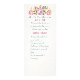 Cute romantic flowers rack card