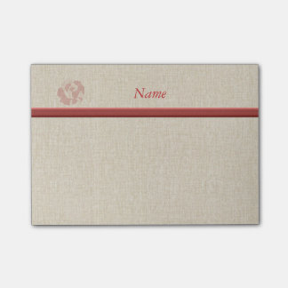 Cute romantic gentle rose personalized post-it notes