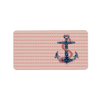 Cute romantic valentines hearts anchor custom address labels