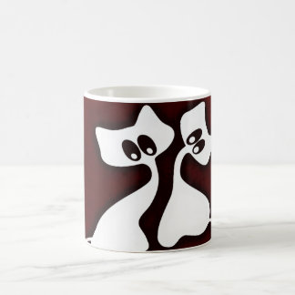 Cute Romantic Whimsy Cats Cup