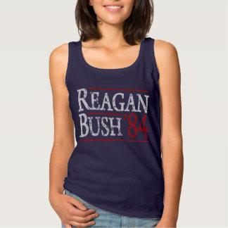 Cute Ronald Reagan Bush 84 Retro Election Spaghetti Strap Tank Top