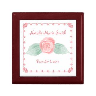 Cute Rose Keepsake Box for Baby GirlsBaby