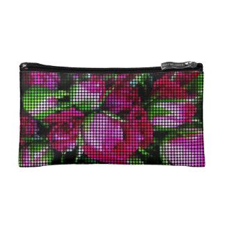 Cute rosebud dot mosaic cosmetic bag