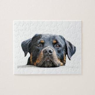 Cute Rottweiler | Dog Breed Face Jigsaw Puzzle