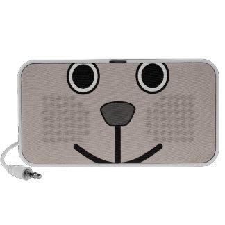Cute Round Cartoon Bear Face Mini Speaker