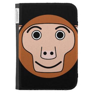 Cute Round Cartoon Monkey Face Kindle Case