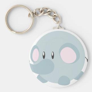 Cute Round Elephant Key Chains