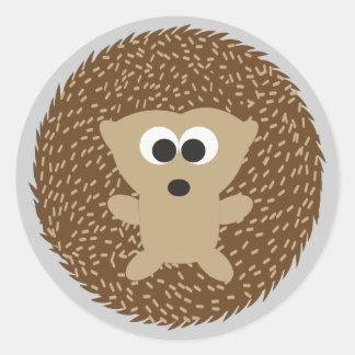 Cute Round Hedgehog Round Sticker