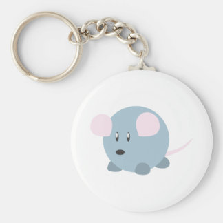 Cute Round Mouse Keychain