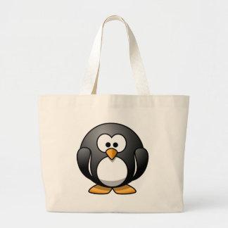 Cute Round Penguin Designs Jumbo Tote Bag