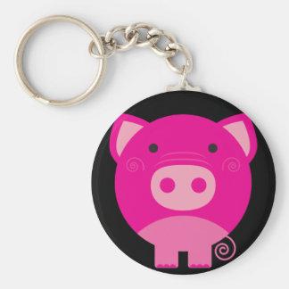 Cute Round Pig Cartoon Keychains