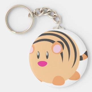 Cute Round Tiger Cub Keychains