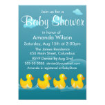 "Cute Rubber Ducky Baby Shower 5"" X 7"" Invitation Card"