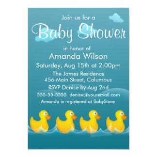 Cute Rubber Ducky Baby Shower Card