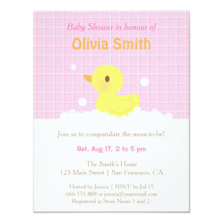 Cute Rubber Ducky Baby Shower Invitations