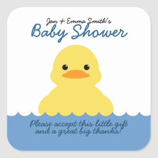 cute rubber ducky BABY SHOWER party favor label