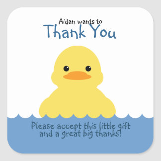 cute rubber ducky BIRTHDAY PARTY favor label