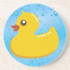 Cute Rubber Ducky/Blue Bubbles Coaster