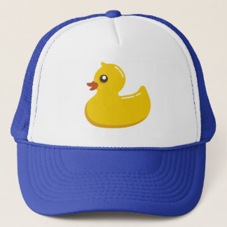 Cute Rubber Ducky/Blue Bubbles Trucker Hat