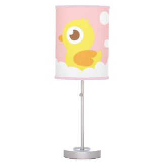 Cute Rubber Ducky in Bubble Bath for Girls Bedroom Table Lamp