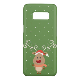 Cute Rudolph the red nosed reindeer cartoon Case-Mate Samsung Galaxy S8 Case