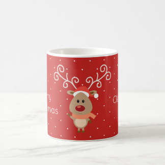 Cute Rudolph the red nosed reindeer cartoon Coffee Mug