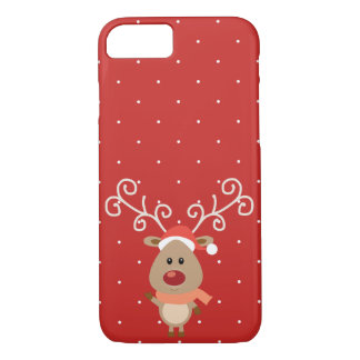 Cute Rudolph the red nosed reindeer cartoon iPhone 8/7 Case
