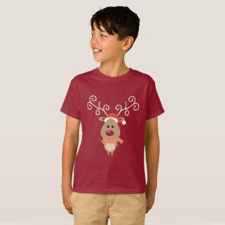 Cute Rudolph the red nosed reindeer cartoon T-Shirt