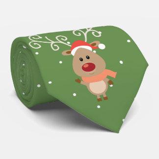 Cute Rudolph the red nosed reindeer cartoon Tie